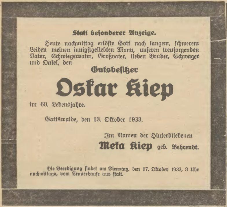 Name:  1933-10-13_Sterbeanzeige Kiep, Oskar.jpg Hits: 310 Größe:  74.4 KB