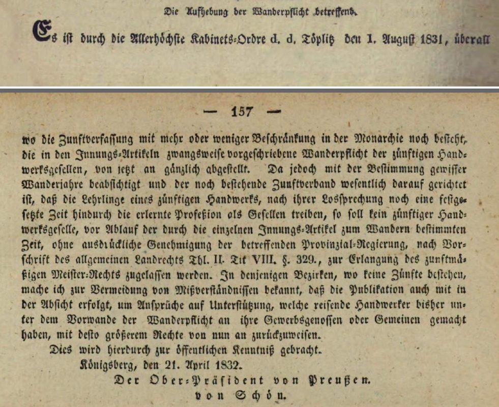 Name:  1832-04-21_Aufhebung der Wanderpflicht.jpg Hits: 355 Größe:  158.4 KB