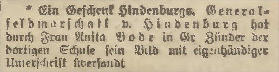 Name:  1922-02-06_Ein Geschenk Hindenburgs.jpg Hits: 181 Größe:  57.5 KB
