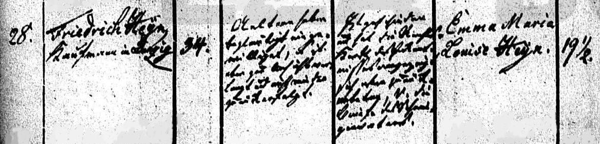 Name:  1840-07-13_Heiratseintrag Heyn, Friedrich-Heyn, Emma Maria Louise - 1 (St. Nikolai, Stettin).jpg Hits: 181 Größe:  111.3 KB