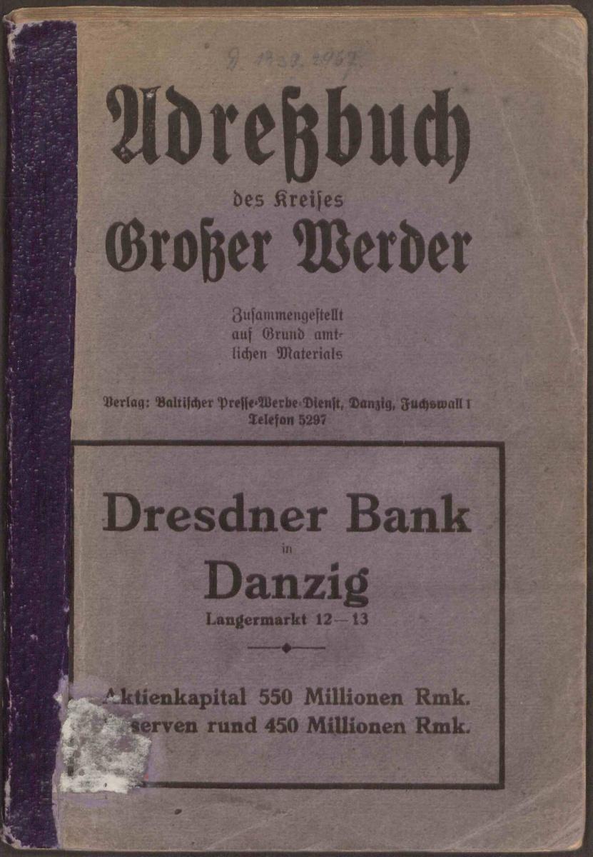 Name:  Adreßbuch des Kreises Großer Werder 1925 - Deckblatt.jpg Hits: 356 Größe:  317.1 KB