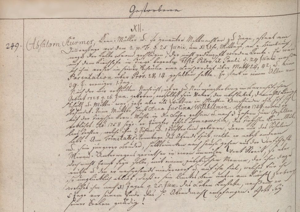 Name:  1767-06-25_Sterbeeintrag Störmer, Absalon (KB Ladekopp).jpg Hits: 247 Größe:  141.4 KB